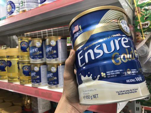 sữa bột ensure gold hương vani